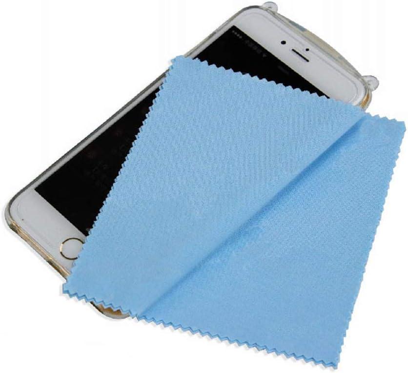 Tablets iPads 10 extra gro/ße T/ücher zum Reinigen von Brillen Mobiltelefonen Silberwaren und Anderen empfindlichen Oberfl/ächen 13x13CM Kameras LCD-Bildschirmen Brillenputztuch aus Mikrofaser
