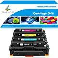 True Image Compatible Toner Cartridge Replacement for Canon 046 046H MF733Cdw Toner Cartridge 046 CRG 046H Canon Color ImageCLASS MF733Cdw MF731Cdw Canon MF731Cdw MF735Cdw LBP654Cdw Toner Ink Printer