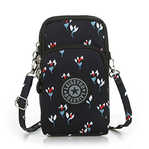 HappyForward Shoulder card Wristlet package Handbags Girls Small Ladies Bag Design 6 Nylon Printing Crossbody ggRATUY