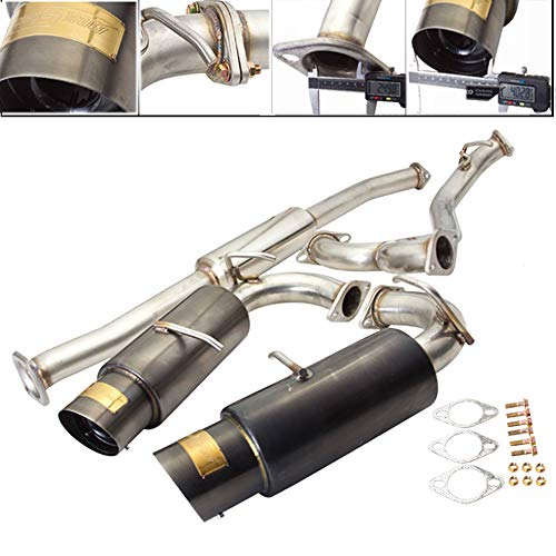 Fit 2013-2017 Scion FR-S/Subaru BR-Z 2.5 Inch Stainless Steel Catback Exhaust System 4 Inch Gun Metal Muffler Tip