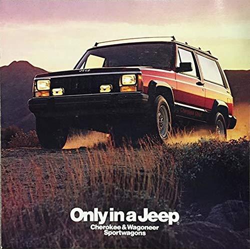 1985 JEEP CHEROKEE & WAGONEER SPORTWAGONS PRESTIGE COLOR SALES BROCHURE - 1/85 4-5424-835-04 - USA - GORGEOUS ORIGINAL !!