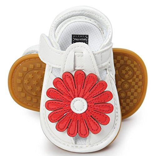 BZLine® Baby Flower Sandalen Schuh Schuhe Sneaker Anti-Slip Soft Sole Kleinkind Rot