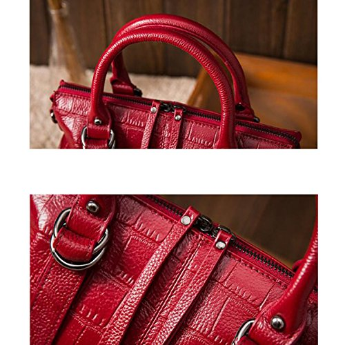 Créateur Main Sacs De Femme à tout à Texture Crocodile Fourre Main red Sacs Sacs Ladies qxwU1CUIS