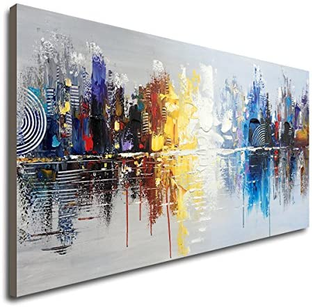 Abstract Reflection Cityscape Art Contemporary product image