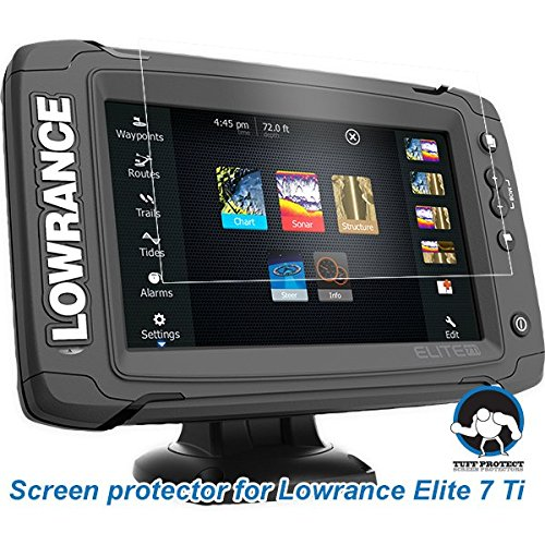 Tuff protect anti glare screen protectors lowrance elite 7 for Best rated fish finder