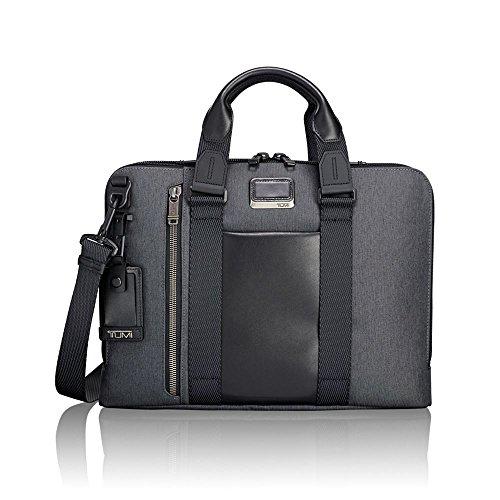 TUMI - Alpha Bravo Aviano Laptop Slim Brief Briefcase - 15 Inch Computer Bag for Men and Women - Anthracite ()