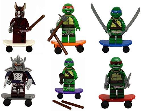 TMNT 6 Pcs Set Teenage Mutant Ninja Turtles Action Mini Figures Building Toy