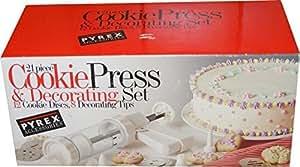 Pyrex 36022 21-Piece Cookie Press