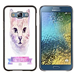 Dragon Case - FOR Samsung Galaxy E7 E7000 - never know your luck - Caja protectora de pl??stico duro de la cubierta Dise?¡Ào Slim Fit