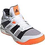 adidas Men's Stabil X Mid Volleyball Shoe, White/Black/Solar Orange, 11 M US