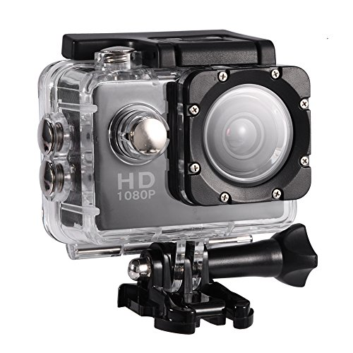 Action Camera 4K WiFi Waterproof 30m Outdoor Sports Video DV Camera 1080P Full HD LCD Mini Camcorder with 900mAh Rechargeable Batteries and Mounting Accessories Kits(Black,)