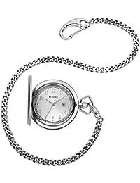 Men's Stainless Steel Analog-Quartz Pocket Watch (Model: 96B270)