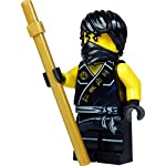LEGO® Ninjago™ Minifigure Cole (black Ninja) with golden Kendo stick 2015 LEGO