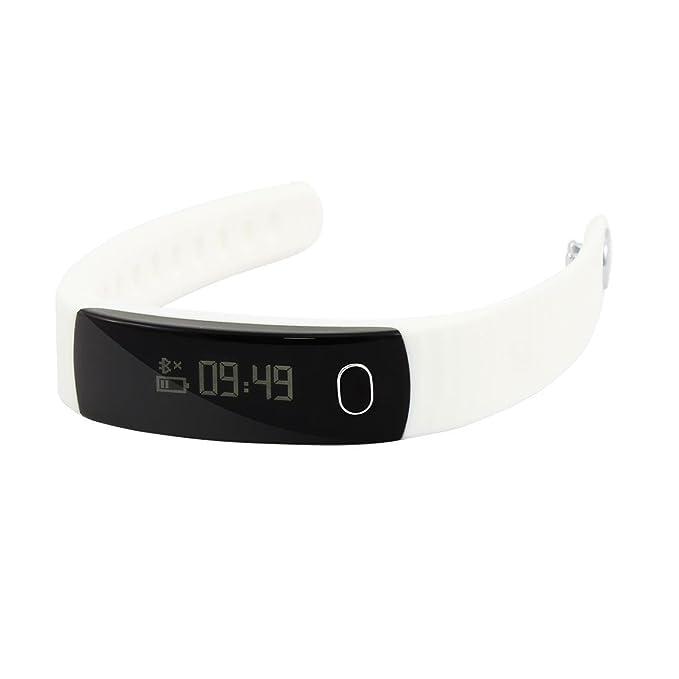 Amazon.com: eDealMax Deporte al aire Libre SmartBand H8 podómetro Fitness inteligente pulsera Blanca Para Android 4.3 iOS 7.0: Electronics