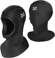 Chargenyang Wetsuit Hood 3mm Snorkel Hat Thermal Neoprene Scuba Diving Hood Wetsuit Hat Cap with Flow Vent, Su