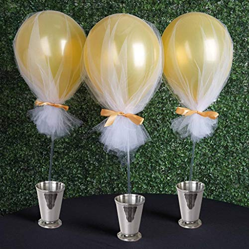 BalsaCircle 30 Balloons Clear Column Stand Sticks Holders Wedding Event Birthday Graduation Party Centerpieces Decorations Supplies -
