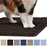 Gorilla Grip Original Premium Durable Cat Litter Mat - XL Jumbo - No Phthalate - Water Resistant - Traps Litter from Box and Cats - Scatter Control - Soft on Kitty Paws - Easy Clean Mats (Corner: Brown)