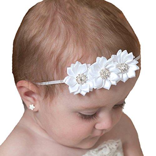 Miugle Baby Girl White Headbands