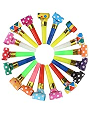 100 Pcs Bulk Party Musical Blowouts,Assorted Colors,Birthday Party Favors,New Years Party Noisemakers Gross Party Blow Outs Whistles,Party Accessory,Party Blowouts