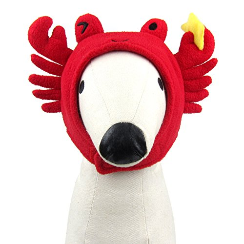 Alfie Pet - Aspen Hat for Party Halloween Special Events Costume (for Small Dogs & Cats) - Pattern: Crab, Size: Large -