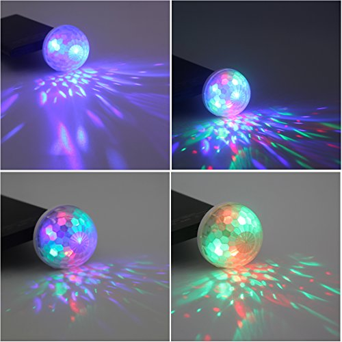 USB Mini Stage DJ Light Disco Ball Lamp Home Pajama Party Strobe Light Disco LED Bulb for Birthday Gift Club Wedding…