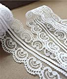 20 Yards 2''(5cm) Wide Lace Ribbon Trims Heart Shape Embroidery Pattern Lace Trims for Gift Wrap Party Deco DIY Craft Supply。