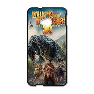 Protection Cover Bqlvz HTC One M7 Cell Phone Case Black walking with dinosaurs movie Protection Cover