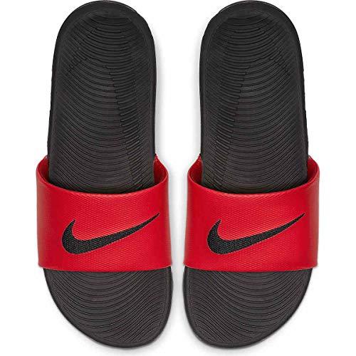 Nike Athletic Sandals - Nike Mens Kawa Slide Athletic Sandal, Red/Black Size 9 M US