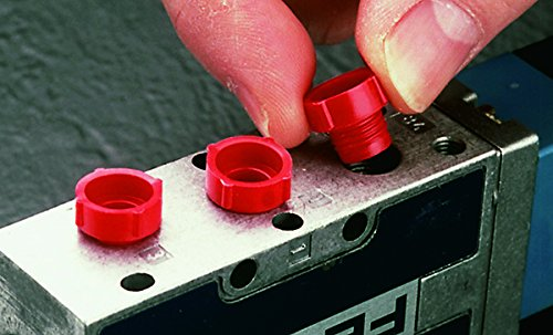 to Plug Thread Size 3//4-16 Red Pack of 100 PDO-108 PE-HD Caplugs 99394973 Plastic Threaded Plug for SAE O-Ring Ports