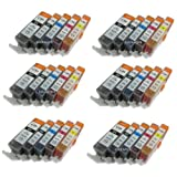 Ink4work 30 Pack PGI-225, CLI-226 Compatible Ink Cartridge For Pixma iP4820/iP4920/iX6520/MG5120/MG5220/MG5320/MX712/MX882/MX892
