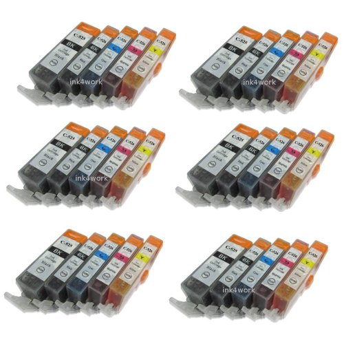 Ink4work 30 Pack PGI-225, CLI-226 Compatible Ink Cartridge For Pixma iP4820/iP4920/iX6520/MG5120/MG5220/MG5320/MX712/MX882/MX892, Office Central