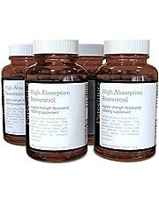 1 000 mg Resveratrol x 360 tabletter - (4 flaskor vardera med 90 tabletter - 12 månaders leverans). 10 x styrka och med svartpeppar extrakt för snabbare absorption. SKU: 3 x RV4