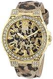 Guess W0030L1 - Reloj analógico de cuarzo para mujer con correa de piel, color multicolor