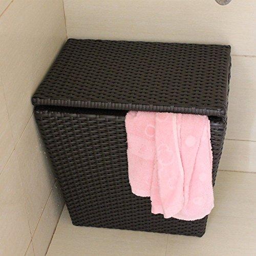 YZL/ Cover prepared rattan hamper/toy box/bathroom/laundry baskets of dirty clothes storage baskets by KAIMENDAJI