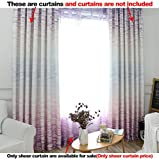 ASide BSide Leisure Style Rod Pocket Top Sheer Curtains Brick Wall Printed Breathable Window Decoration For Kitchen Sitting Room and Houseroom (1 Panel, W 52 x L 63 inch, Purple)