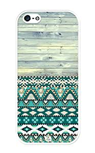 iZERCASE Unique Aztec Old Wood Pattern Rubber iphone 5 / iPhone 5S case - Fits iphone 5, iPhone 5S T-Mobile, AT&T, Sprint, Verizon and International by runtopwell