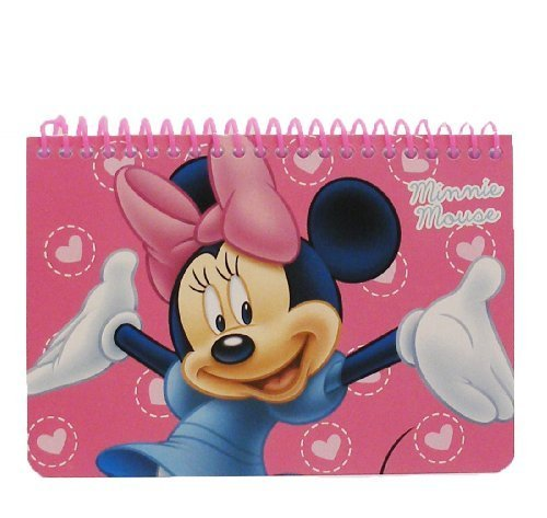 Minnie Mouse Disney Pink Spiral Autograph Book