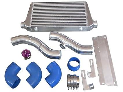 Intercooler Kit w/BOV 240Z 260Z 280Z RB26DETT Swap Single Turbo Upgrade RB26 280ZX blue