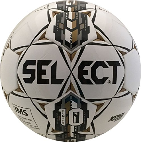 - Select Numero 10 Soccer Ball, White/Black/Gold, 4