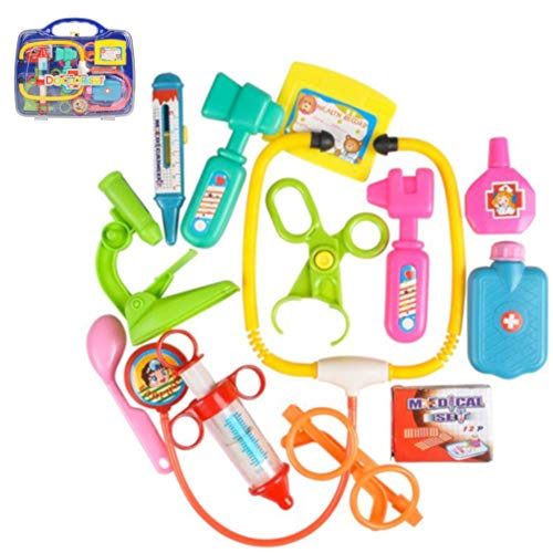 OIG Brands Doctor Kit for Kids and Toddlers - Durable Medical and Veterinary Costume Accessories Toys Set for Girls and Boys 10 Pieces