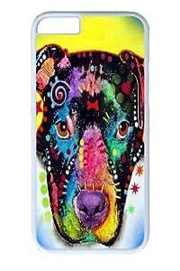iphone 6 plus Case,otter pitbull PC Hard Plastic Case for iphone 6 plus 5.5 inch Whtie