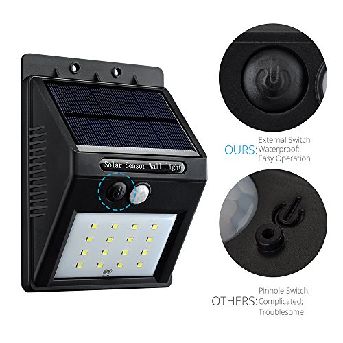 [16 LED Upgraded Version] Solar Light, VicTsingA® Bright 16 LED Wireless Solar Powered Motion Sensor Light / Outdoor Waterproof Solar Energy Security ...
