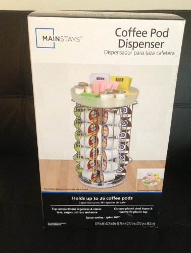 Amazon.com | Mainstays Coffee Pod Dispenser Carousel for 36 Keurig Coffee Pods: Coffeemaker Accessories: Coffee Cups & Mugs