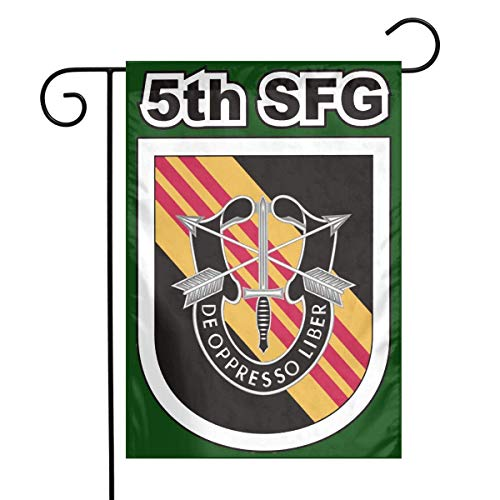 adlaide US Army 5th Special Forces Group Garden Flag House Banner for Party Yard Home Outdoor Decor