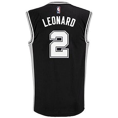 San Antonio Spurs Kawhi Leonard NBA Adidas Youth Black Road Replica Jersey  (Youth Small 8
