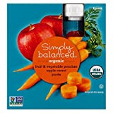 Apple Carrot Fruit & Vegetable 3.2oz Pouch - Simply Balanced