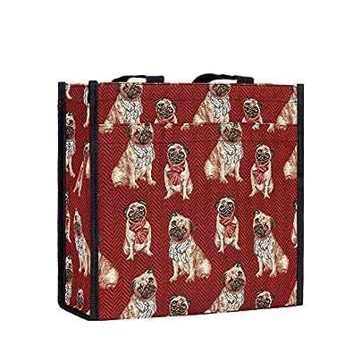 Bolso tapiz Shopper de moda Signare para mujer bolso de hombro Animal (Doguillo)
