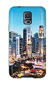 Galaxy S5 Case Slim [ultra Fit] Singapore City Protective Case Cover
