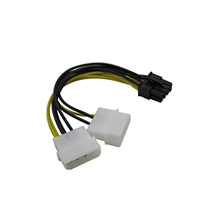 4 Pin ATX /& 4 Pin LP4 Molex to 8 Pin Motherboard CPU Power Adapter Cable 20cm A