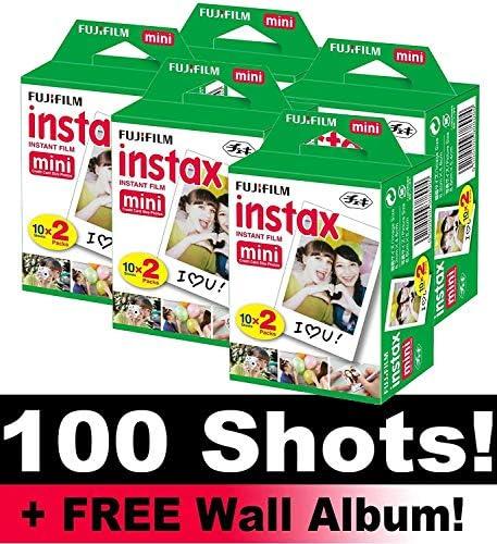 Fujifilm Instax Mini película Bundle Pack (100 Disparos) + Incluye álbum de Pared: Amazon.es: Electrónica